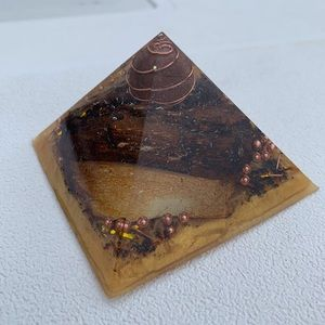 XL Orgonite Pyramid Petrified Wood